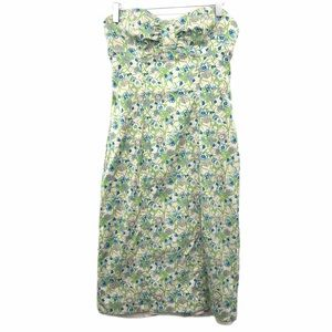 Tracy Reese New York Size 8 Green Floral Dress